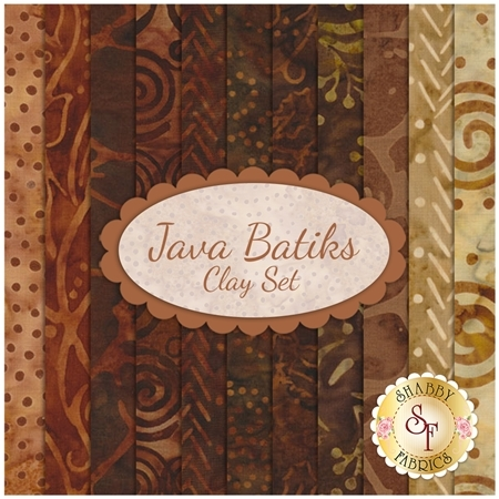 Java Batiks  11 FQ Set - Clay Set by Maywood Studio
