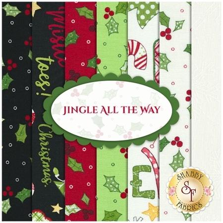 Jingle All The Way 7 FQ Set by Kim Christopherson for Maywood Studio Fabrics