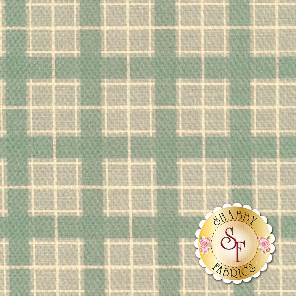 Dull teal plaid fabric | Shabby Fabrics