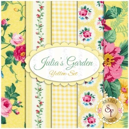 Julia's Garden  5 FQ Set - Yellow Set by Northcott Fabrics