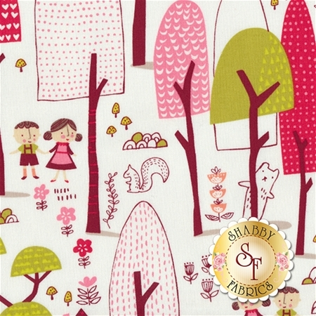Just Another Walk In The Woods 20521-11 Cream by Stacy Iest Hsu for Moda Fabrics