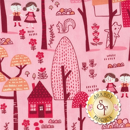 Just Another Walk In The Woods 20521-12 Pink by Stacy Iest Hsu for Moda Fabrics