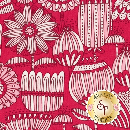 Just Another Walk In The Woods 20522-14 Red by Stacy Iest Hsu for Moda Fabrics