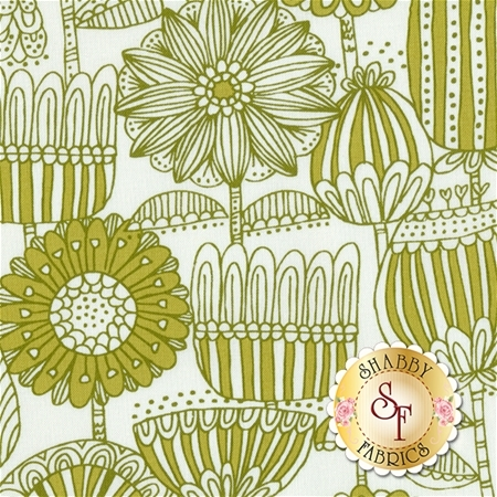 Just Another Walk In The Woods 20522-21 Green Cream by Stacy Iest Hsu for Moda Fabrics