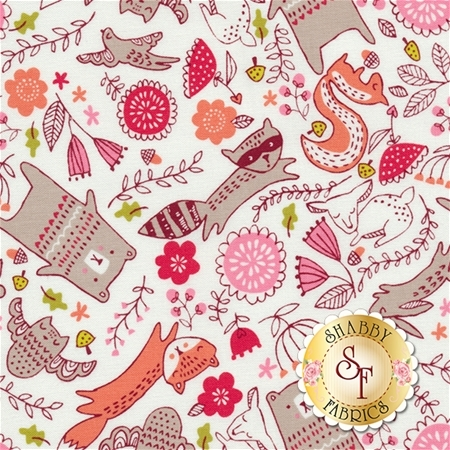 Just Another Walk In The Woods 20523-11 Cream by Stacy Iest Hsu for Moda Fabrics