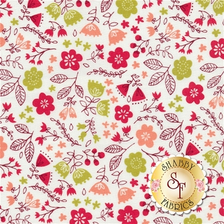 Just Another Walk In The Woods 20524-11 Cream by Stacy Iest Hsu for Moda Fabrics