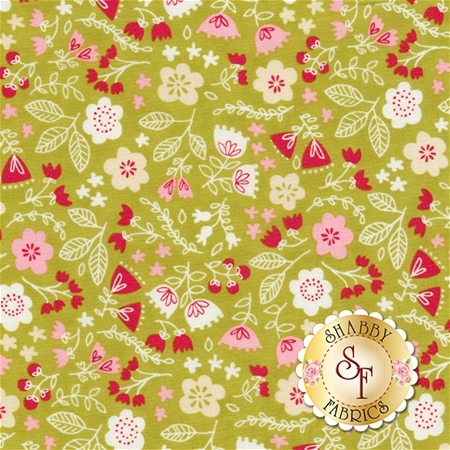 Just Another Walk In The Woods 20524-18 Green by Stacy Iest Hsu for Moda Fabrics