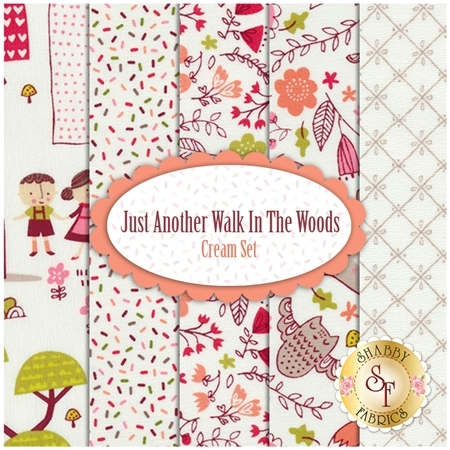 Just Another Walk In The Woods  5 FQ Set - Cream Set by Stacy Iest Hsu for Moda Fabrics