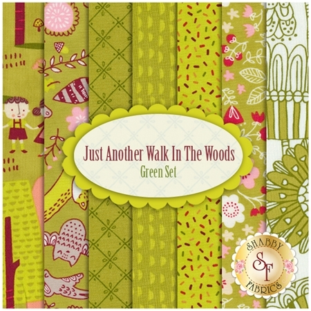 Just Another Walk In The Woods  7 FQ Set - Green Set by Stacy Iest Hsu for Moda Fabrics