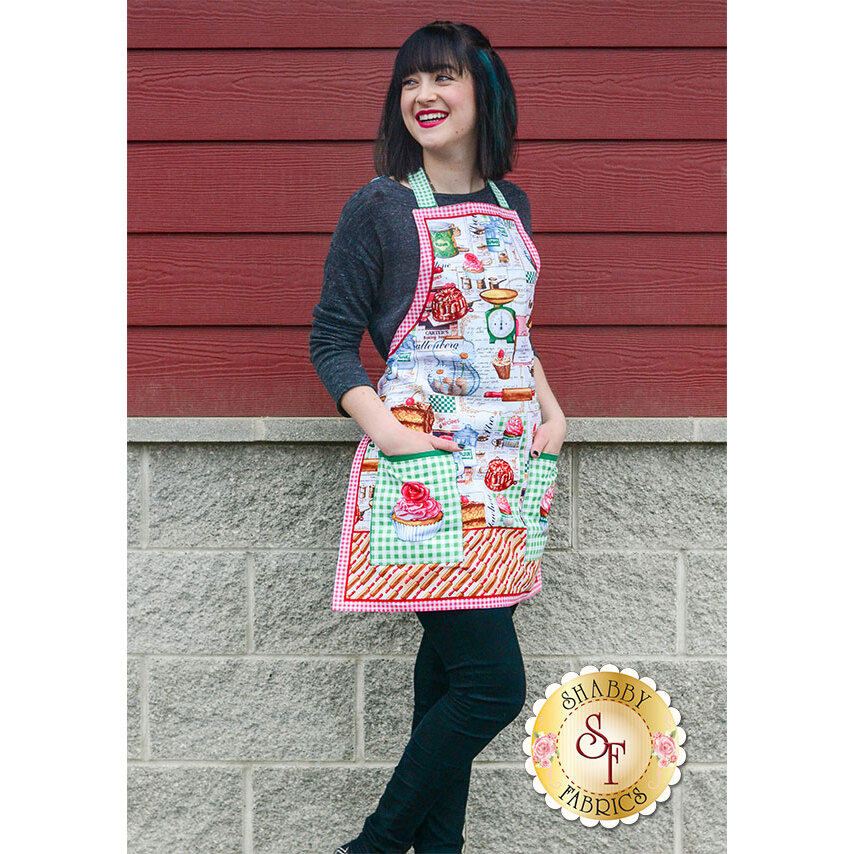Just Desserts 61232-100 Apron Panel by Exclusively Quilters Fabrics