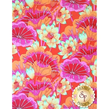 Kaffe Fassett Favorites PWGP093.MAGEN Spring 2014 Lake Blossoms Magenta by Kaffe Fassett for Westminster Fibers