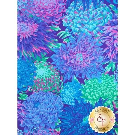Kaffe Fassett Favorites PWPJ041.BLUEX Fall 2015 Japanese Chrysanthemum Blue by Philip Jacobs for Westminster Fibers