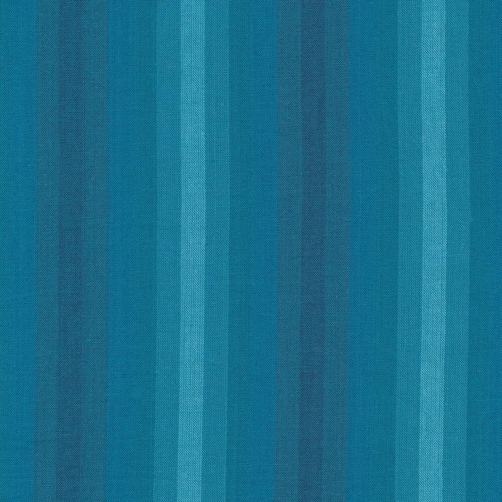 Modern tonal blue striped fabric | Shabby Fabrics