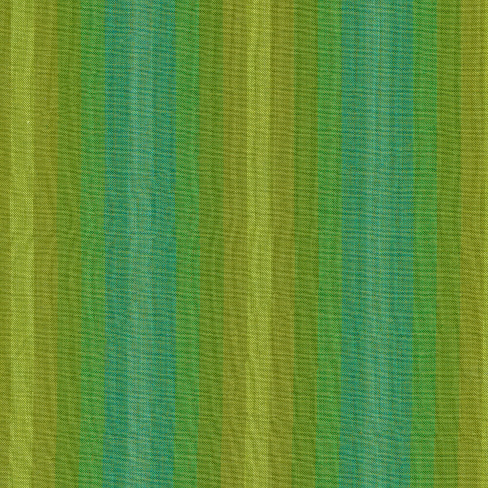 Modern green striped fabric | Shabby Fabrics