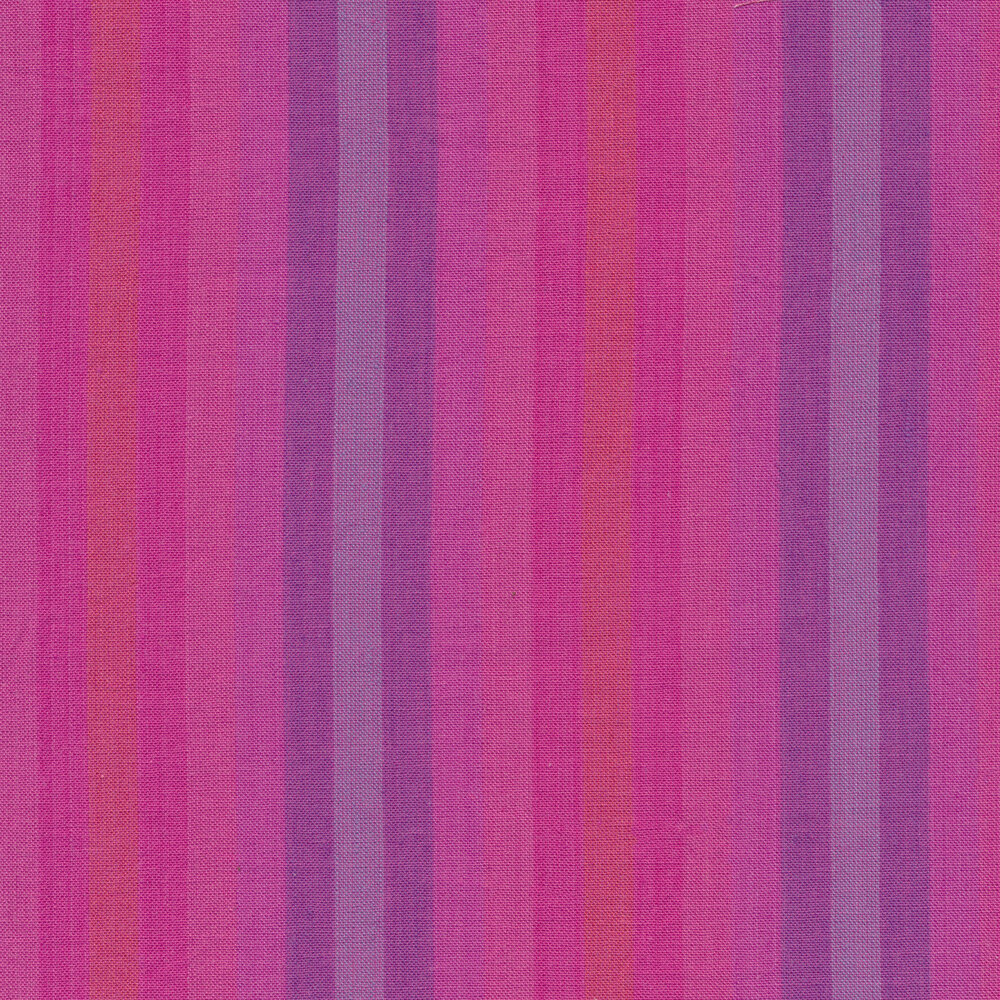 Modern purple and pink striped fabric | Shabby Fabrics
