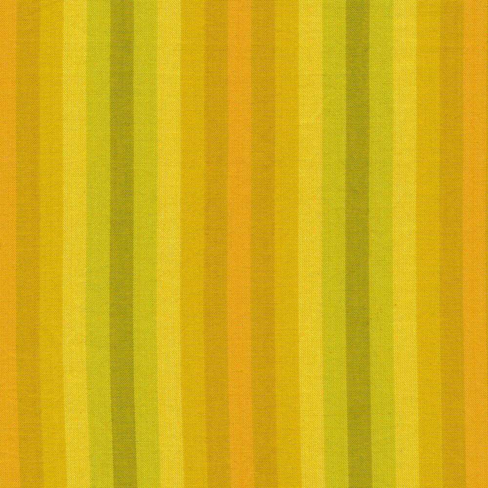 Modern yellow and gold striped fabric | Shabby Fabrics