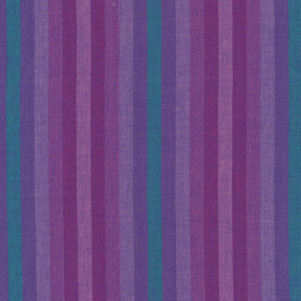 Modern blue and teal striped fabric | Shabby Fabrics