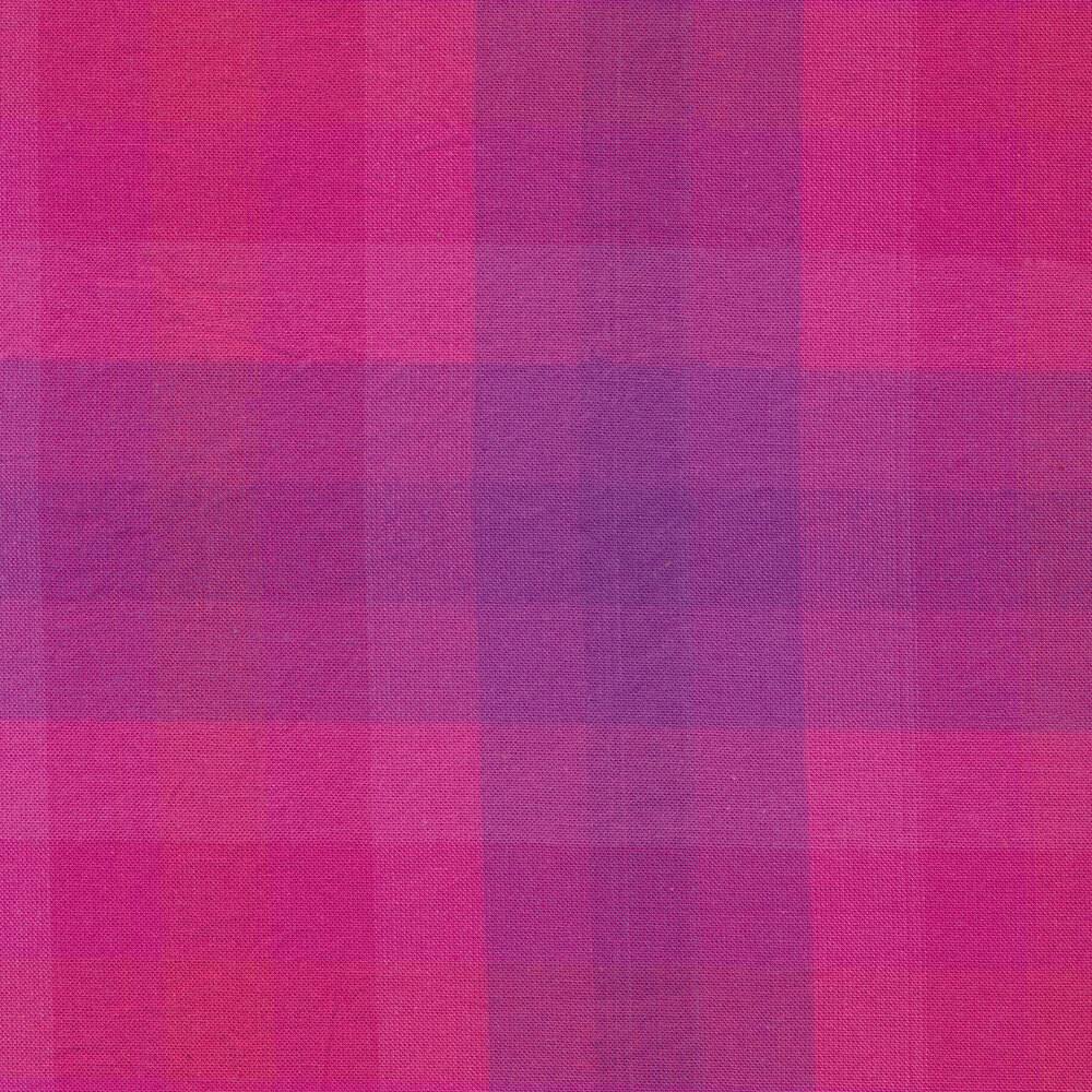 Modern purple and pink plaid fabric | Shabby Fabrics