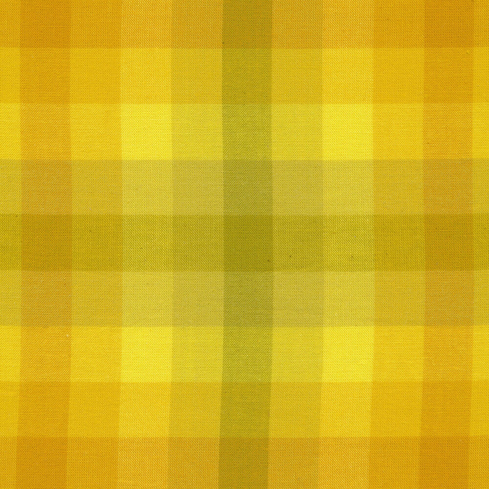 Modern yellow plaid fabric | Shabby Fabrics