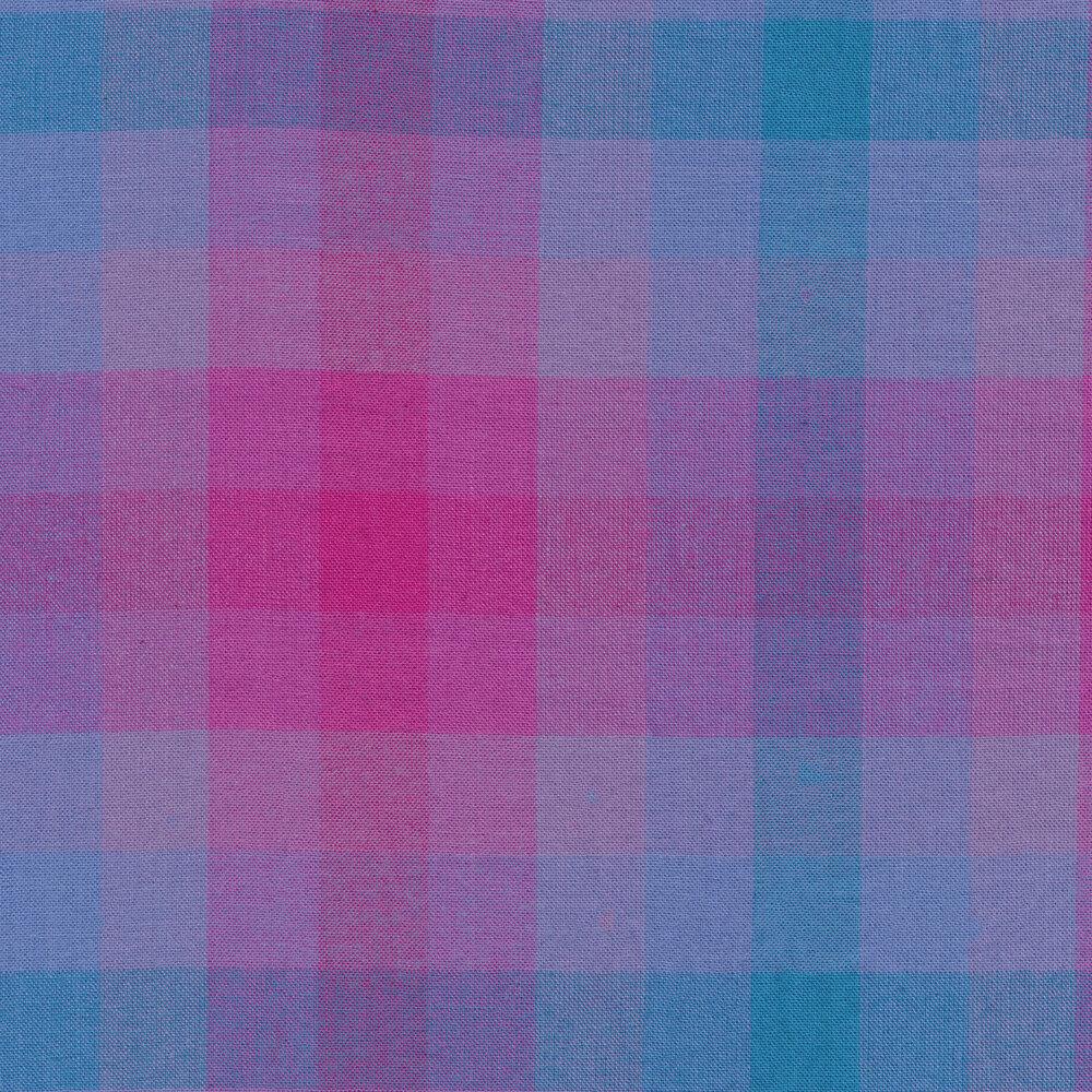 Blue and purple modern plaid fabric | Shabby Fabrics