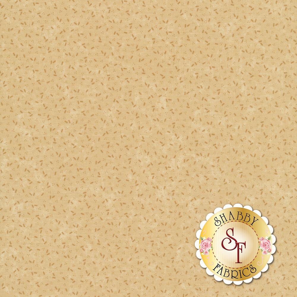 Tonal tossed confetti on a tan background | Shabby Fabrics