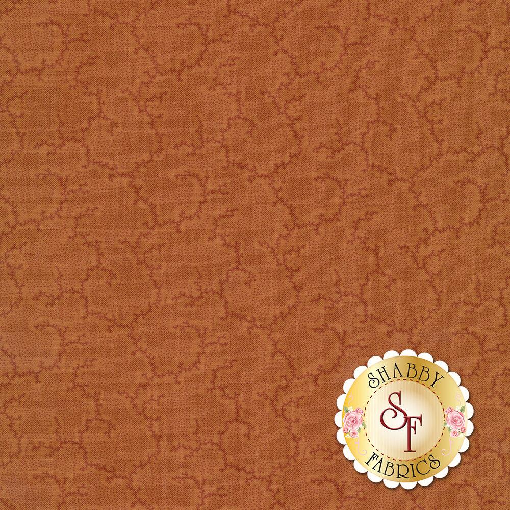 Tonal orange cracked ground fabric   Shabby Fabrics