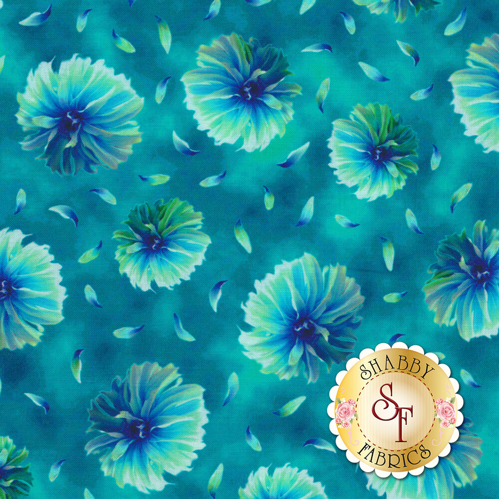 Kenzie 27123-Q Dark Turquoise by Quilting Treasures Fabrics available at Shabby Fabrics