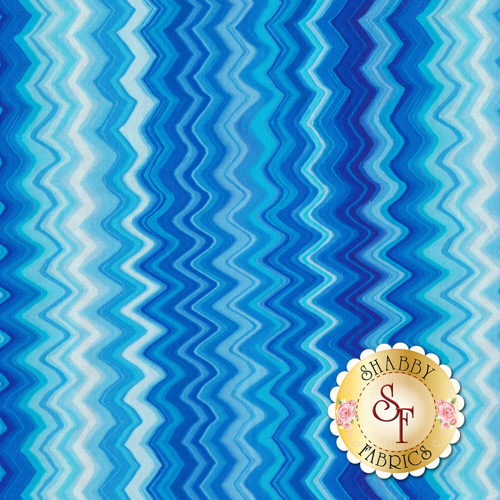Kenzie 27124-B Blue by Quilting Treasures Fabrics available at Shabby Fabrics
