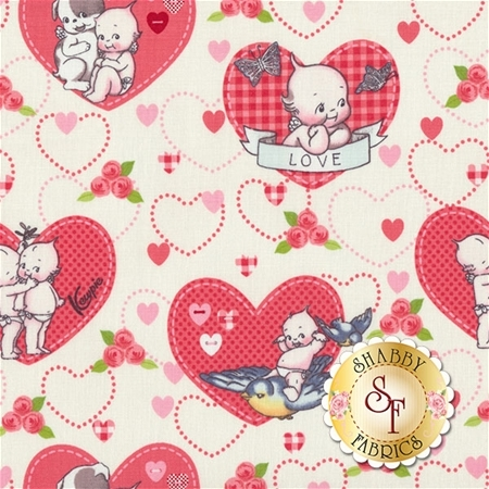 Kewpie Love C5820-CREAM by Riley Blake Designs