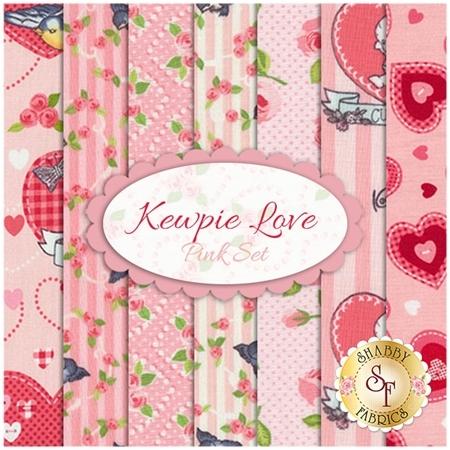 Kewpie Love  7 FQ Set - Pink Set by Riley Blake Designs