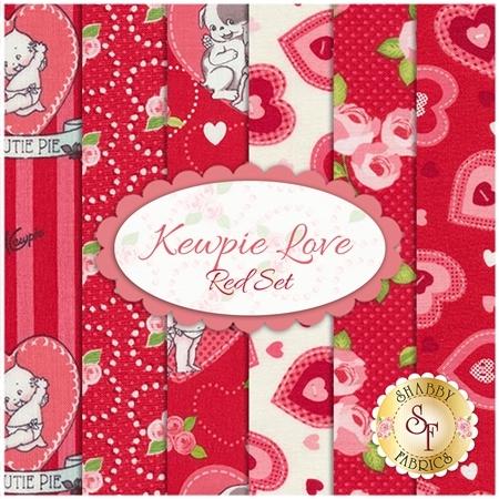 Kewpie Love  6 FQ Set - Red Set by Riley Blake Designs