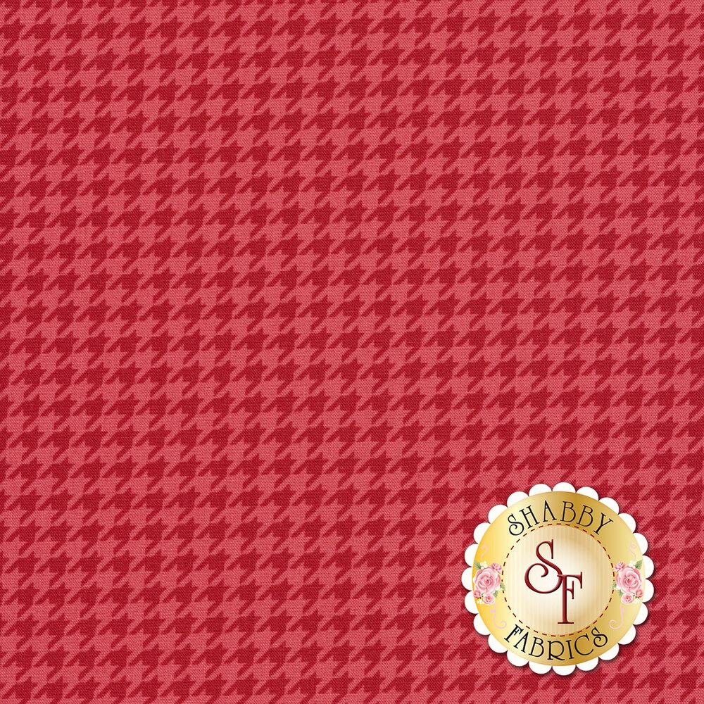 Tonal red/pink houndstooth | Shabby Fabrics