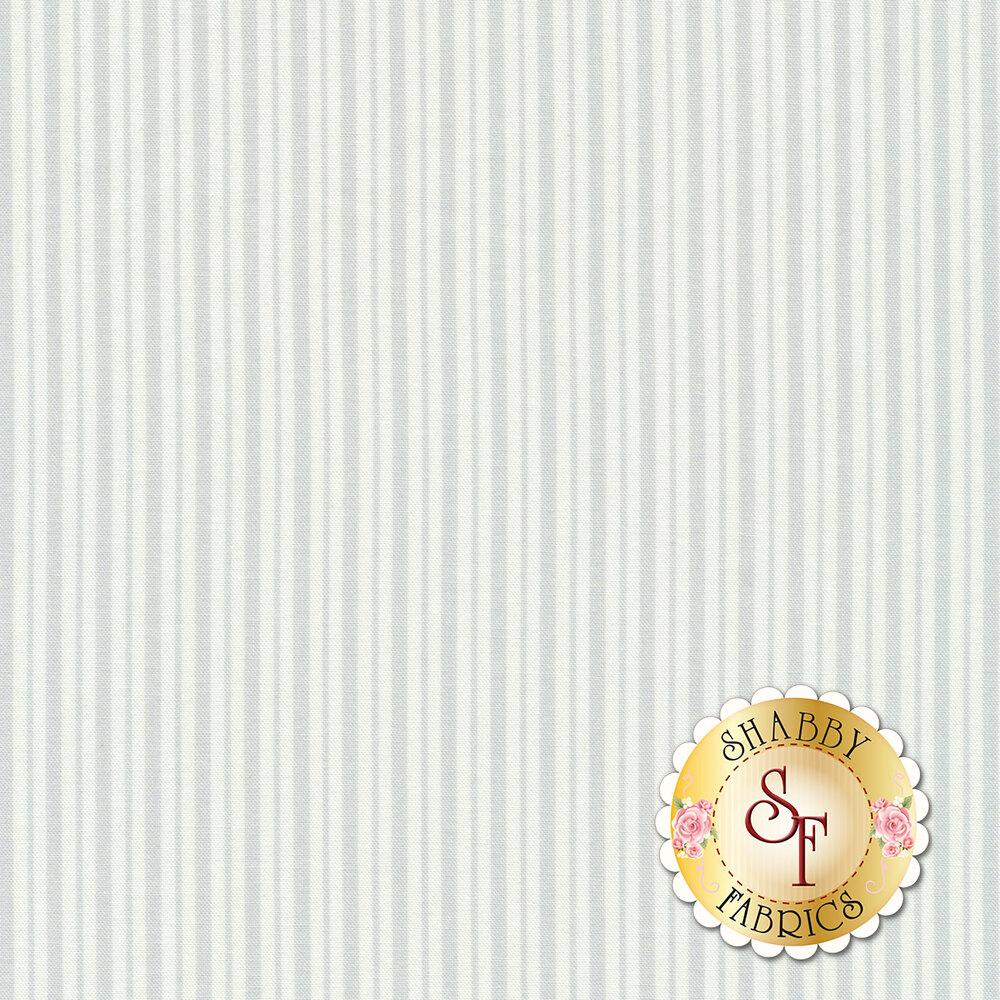 Gray and white striped fabric | Shabby Fabrics