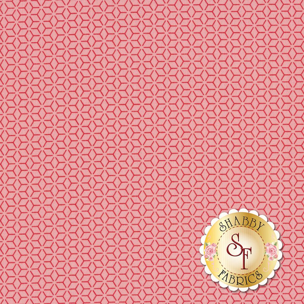 Tonal pink geometric star design | Shabby Fabrics