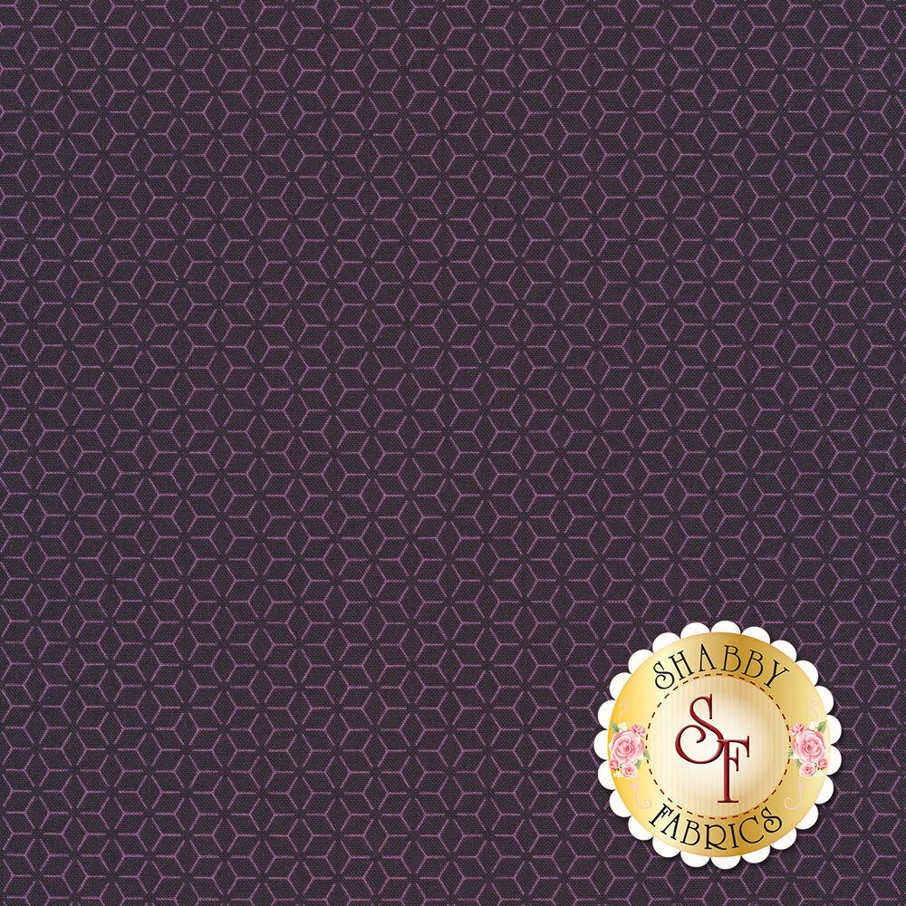 Tonal purple geometric star design | Shabby Fabrics