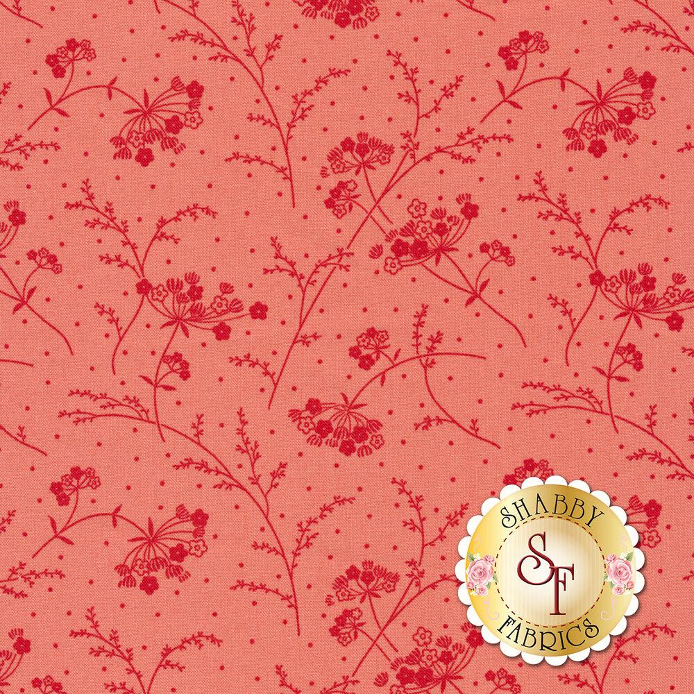 Tonal pink flower and dot design | Shabby Fabrics