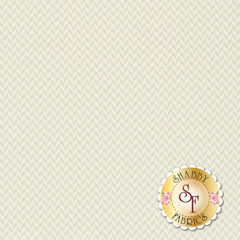 Tonal cream herringbone design | Shabby Fabrics
