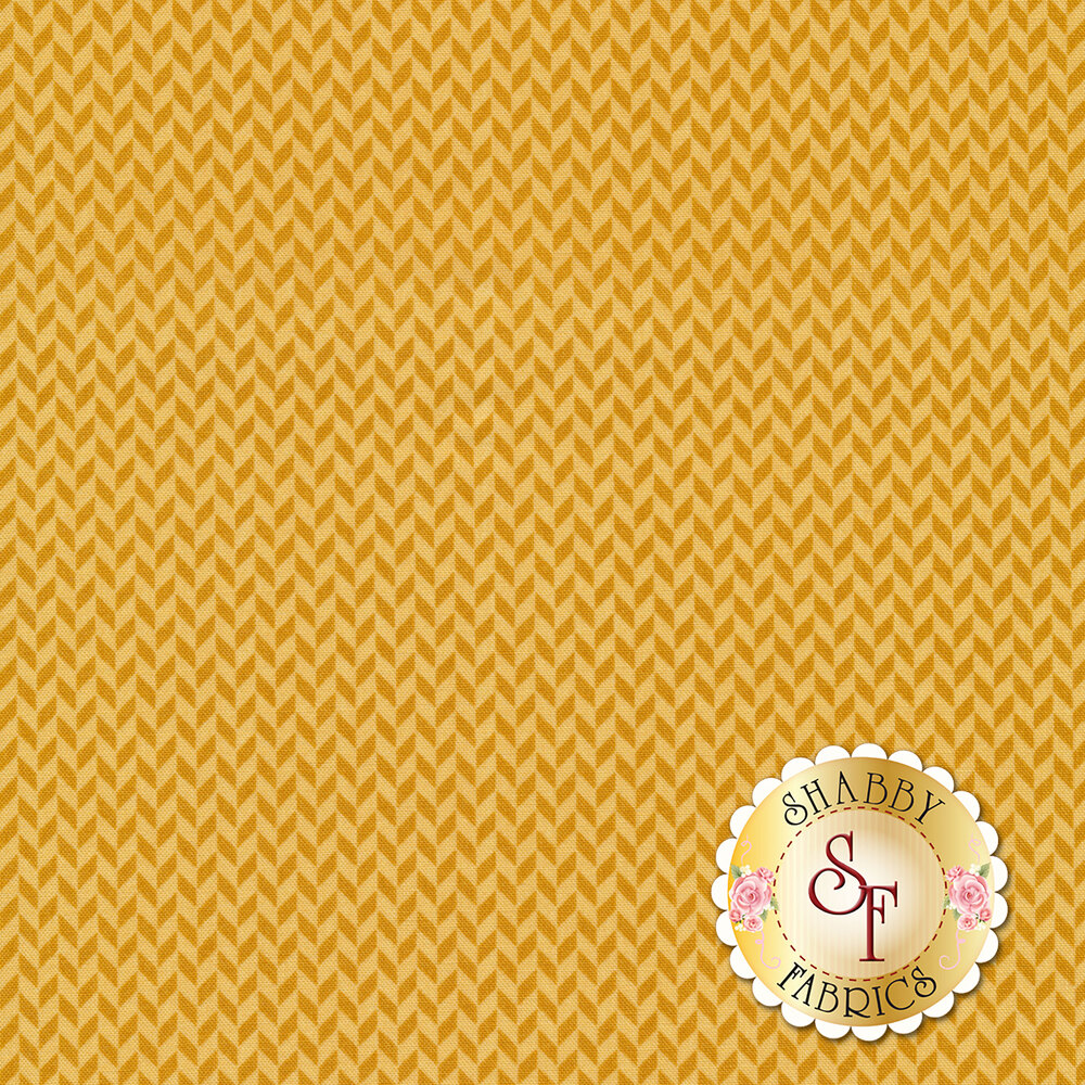 Tonal orange herringbone design | Shabby Fabrics
