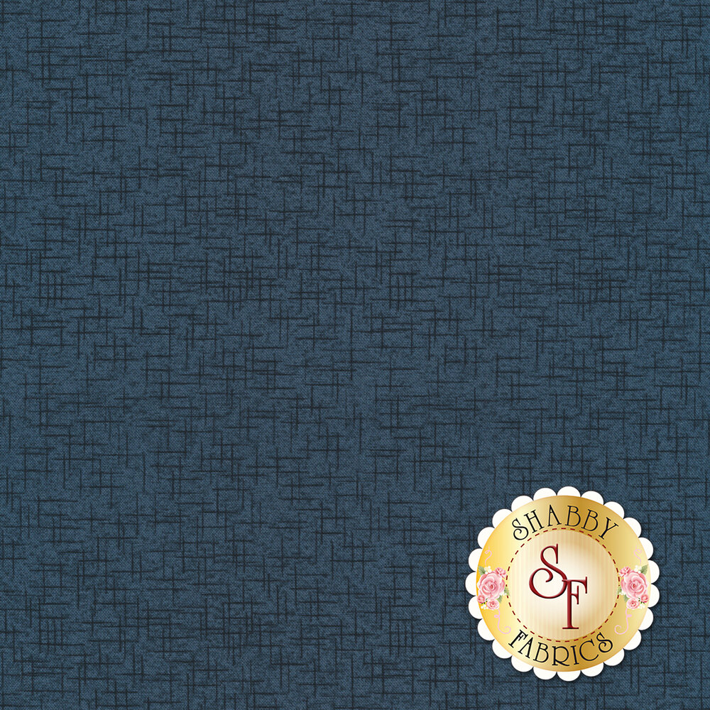 Tonal blue cross hatch design | Shabby Fabrics