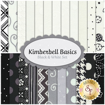 Kimberbell Basics  23 FQ Set - Black & White Set by Kim Christopherson for Maywood Studio
