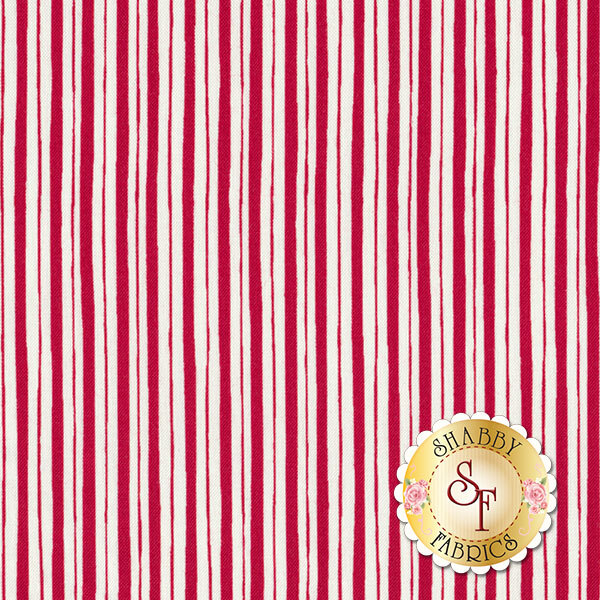 Red and white stripes | Shabby Fabrics