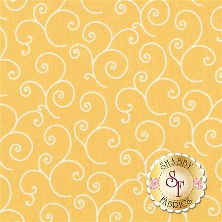 Kimberbell Basics 8243-S Yellow Scroll by Maywood Studio