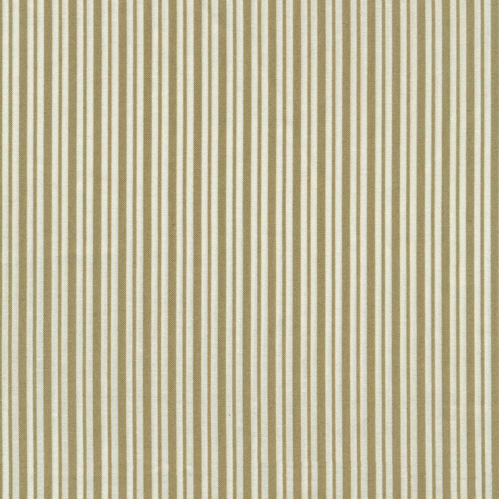 Tan and white striped fabric | Shabby Fabrics