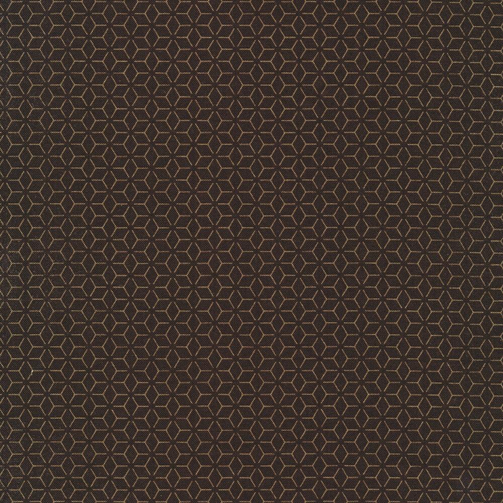Tonal brown geometric star design | Shabby Fabrics