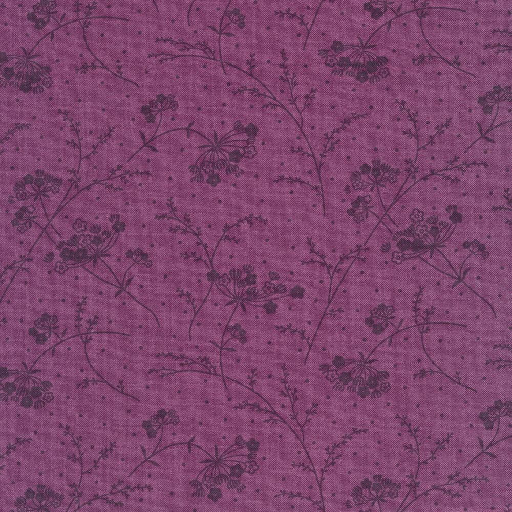 Tonal purple flower design | Shabby Fabrics