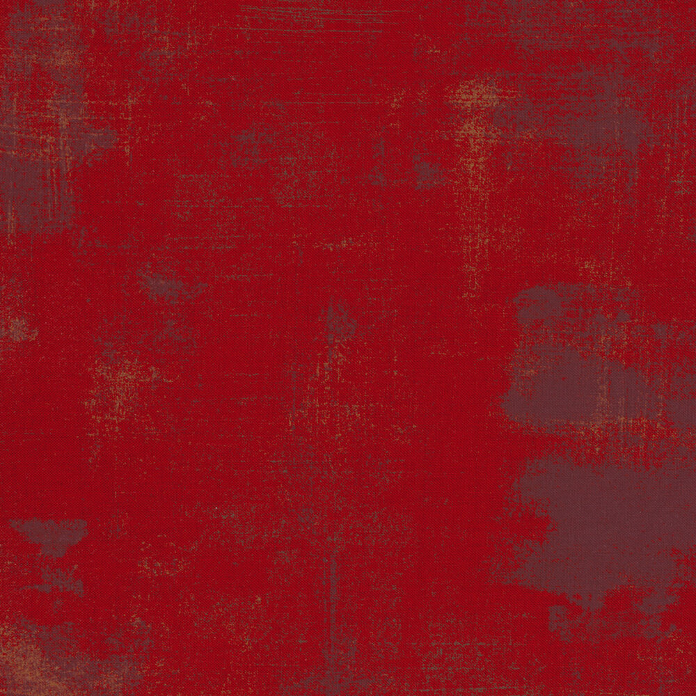 A distressed red textured fabric | Shabby Fabrics
