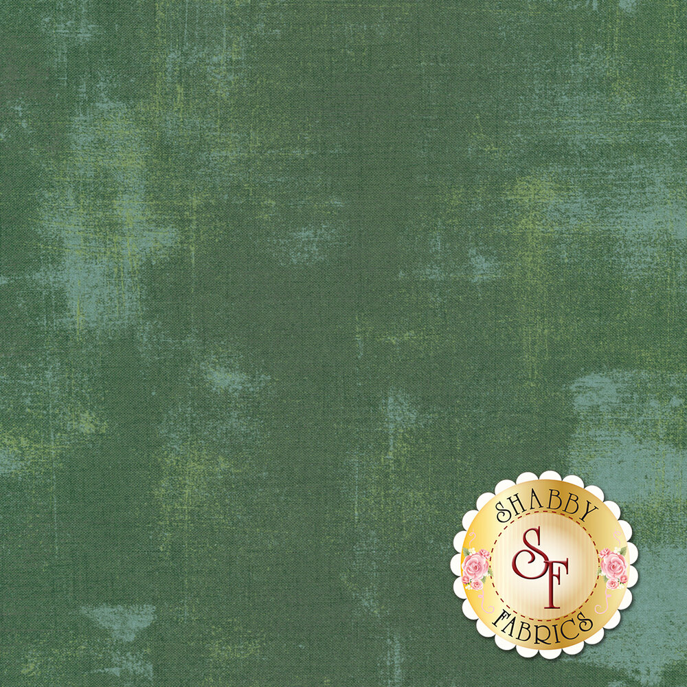 A distressed forest green fabric | Shabby Fabrics
