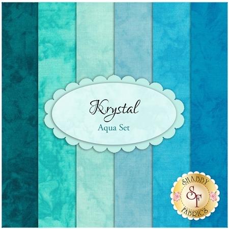 Krystal  6 FQ Set - Aqua Set by Michael Miller Fabrics