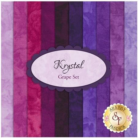 Krystal  10 FQ Set - Grape Set by Michael Miller Fabrics