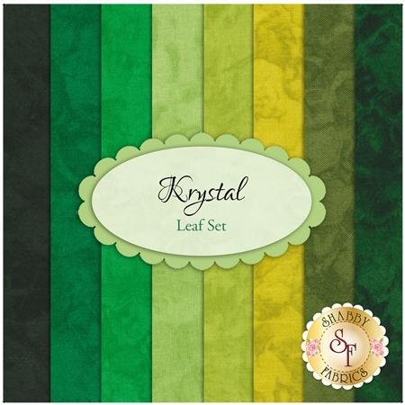 Krystal  8 FQ Set - Leaf Set by Michael Miller Fabrics